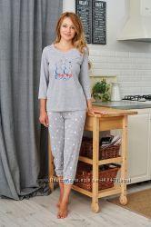 Женская пижама из 100 хлопка . Производитель Польша. Размер S. M. L. XL.