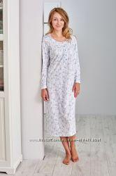 Длинная ночная рубашка для женщин из 100 хлопка. Производитель Польша .