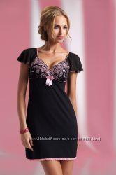 Женская ночная сорочкаплатье с роскошным отрезным кружевным верхом Donna