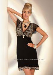 Роскошная женская ночная сорочкаплатье Donna Valeria с цветочной вышивкой