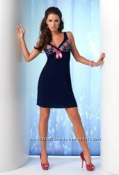 Женская ночная сорочка Donna Isabella с роскошной вышивкой на лифе Donna