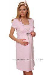 Ночная рубашка для беременных и кормящих мамочек из 100 хлопка.
