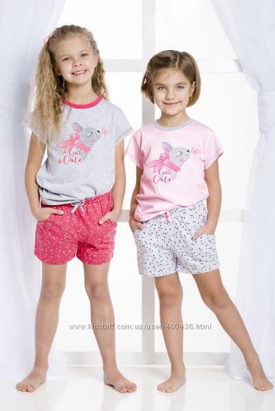Летний костюм, домашняя одежда для девочек из 100 хлопка фирмы Taro