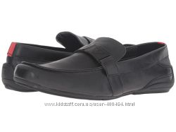 Шикарные мужские кожаные мокасины  GUESS.  Размер 9. 5 USA