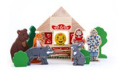 Деревянные игрушки ТОМИК-домино, кубики, конструкторы, сказки