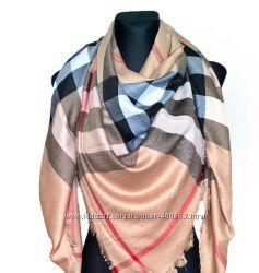 Брендовые натуральные платки палантины  Burberry