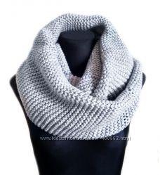 Зимний объемный шарф-снуд