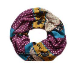 Модные трикотажные шарфы-хомуты