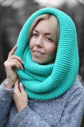 Продам теплые шарфы-снуды, хомуты