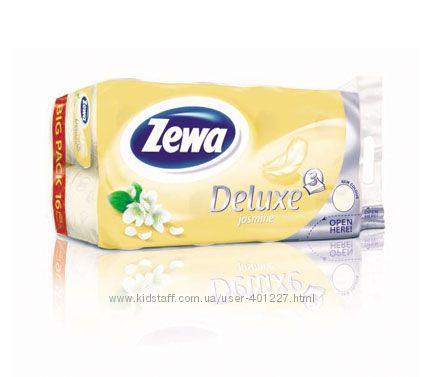 ZEWA DELUXE  бумага туалетная 3-х слойная, 16 шт