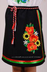 Плахта, юбка, вышиванка на 9-12 лет рост 134, 140, 146, 152см