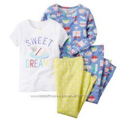 Carters. Отличные пижамки для девочек. Размеры 4, 5т, 5