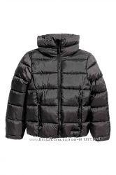 H&M. Курточка для девочки. Черная. Размер 10-11