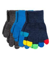 H&M. Комплект из 3 пар перчаток. 4-8 лет
