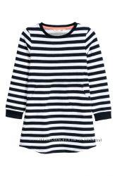 H&M. Платье в полоску с начесом. Размеры