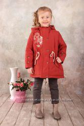 Куртка-парка демисезонная для девочки терракот 03-00552-0