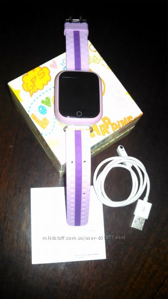 Детские умные часы-телефон с GPS трекером Smart Watch Q100