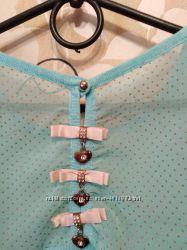 Красивая блузка, трикотаж с шифоном