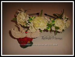 Ободки с цветами . HandMade