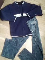 Джинси на мальчика 164 размер и теплый свитер