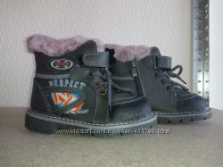 Ботинки Зима для мальчиков р 27 -32. Кожа, шерсть. В наличии.