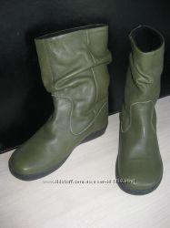 Сапоги кожаные утепленные р. 38 стелька 24-24, 5 см.