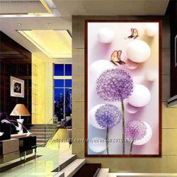 Алмазная вышивка 30х56см Картина из страз. 5D Одуванчики