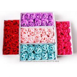 Мыло - бутоны роз. Лепесточки. Подарочная упаковка