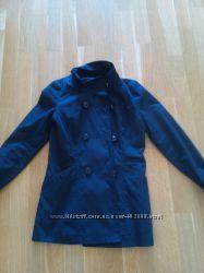 Темно-синяя курточка-плащ