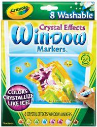 Кристализующиеся маркеры для стекла Crayola Window Markers