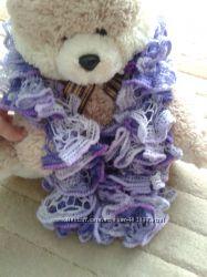 Вязанный ажурный шарфик