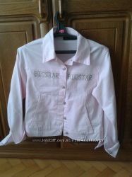 Джинсовый легкий пиджак на размер 38-40 , состояние нового