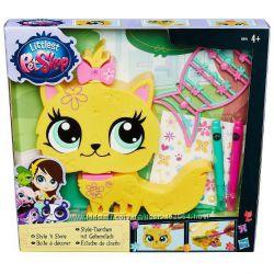 Игровой набор Hasbro Pet Shop арт B0033 укрась зверюшку Желтая Кошечка
