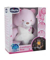 Игрушка-подвеска ночник Медвежонок, розовый chicco 09156. 10