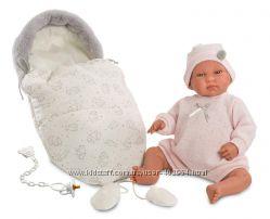 Испанская Кукла Llorens 84424 Младенец Беба со спальником 44 см