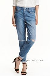 Рваные джинсы Boyfriend Low фирма HM размер 3334