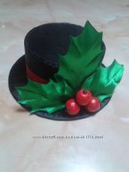 Шляпка декоративная для новогоднего костюма Снеговик