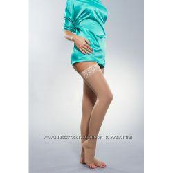 Чулки компрессионные женские, 2 класс компрессии с открытым носком Solovent