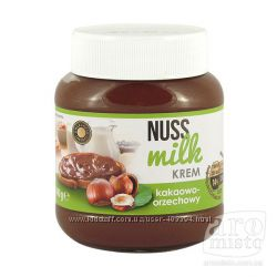 Орехово-шоколадная паста Nuss Milk Krem Нус Милк Крем, Польша