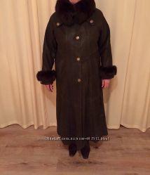 Натуральное кожаное пальто Ворот писец