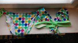 Купальник в разноцветный горошек 42 наш S M