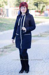 Стильное пальто весна 48-54 размер