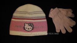 Шапка Hello Kitty и перчатки