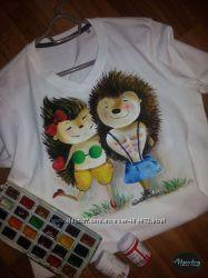 Авторские эксклюзивные рисунки на одежде