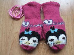 Перчатки рукавички варежки 6-10лет
