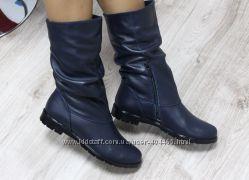 женские кожаные, зимние ботинки, в наличии 4 цвета