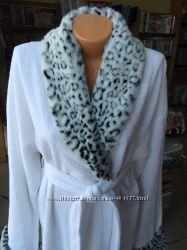 Шикарный белый махровый халат чистый хлопок