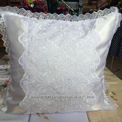 Нарядные свадебные наволочки на подушки