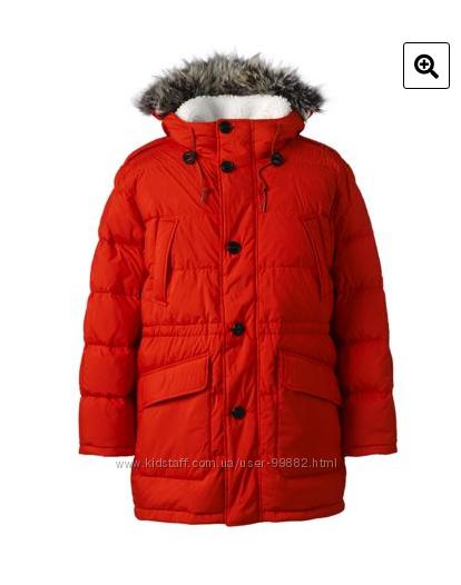 Самая теплая Куртка парка пуховик известного бренда Landsend L идет на ХЛ