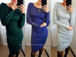 Платье с пуговицами на рукавах Перрис